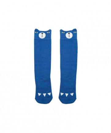 BEAR KNEE SOCKS BLUE