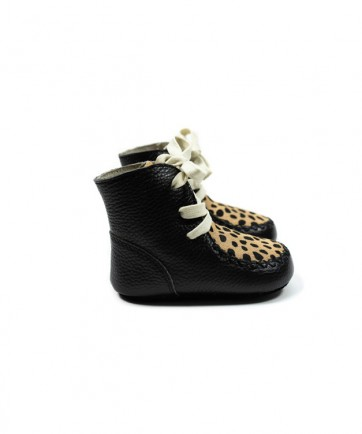 HIGH BOOTS BLACK CHEETAH
